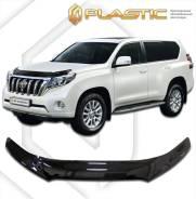 Дефлектор для защиты передней части капота Toyota Land Cruiser Prado 150 2014г.-(прозрачный) (955) (955) П