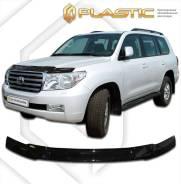 """Дефлектор для защиты передней части капота Toyota Land Cruiser 200 2008г.(""""Арт"""" серебро)(273) (273) А/С"""