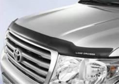 Дефлектор капота. Toyota Land Cruiser, UZJ200W, VDJ200, URJ202W, URJ200, URJ202, UZJ200 Двигатели: 3URFE, 1VDFTV, 1URFE, 2UZFE. Под заказ