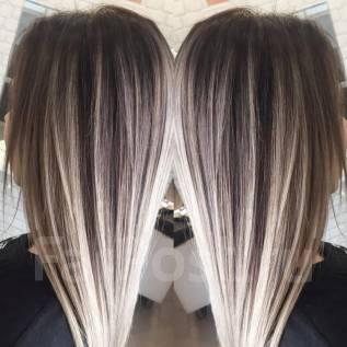 Окрашивание волос Омбре. Шатуш Балаяж. Стрижки - недорого!