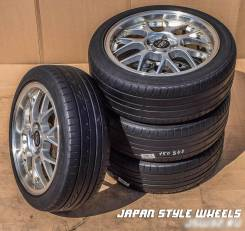 Bridgestone Playz PZ-X + Yokohama Ecos ES300 225/45R18 лето 1-5 мм. 7.5x18 5x114.30 ET43 ЦО 73,1мм.