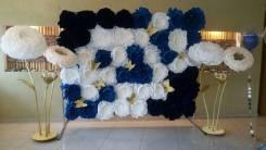 Ростовые цветы, бумажные цветы, оформление фотозон, (аренда, продажа)
