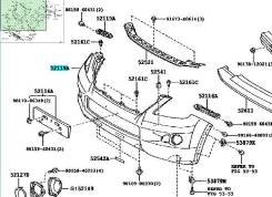 Бампер. Lexus LX570, URJ201 Двигатель 3URFE