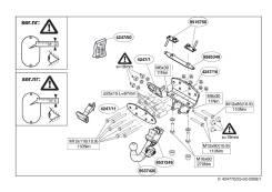 Фаркопы. Toyota Land Cruiser Lexus LX570, URJ201 Двигатель 3URFE