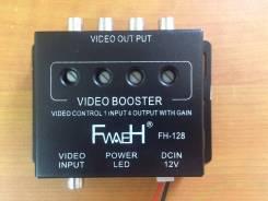Видео усилитель сигнала 1 входа 4 выход с регулировкой усиления RCA
