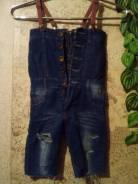 Полукомбинезоны джинсовые. Рост: 110-116 см