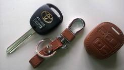 Чехол на ключ зажигания тойота 3 кнопки коричневый