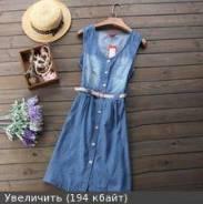 Платья джинсовые. 50