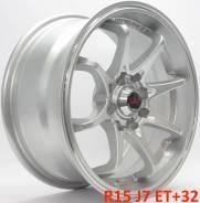 RAYS. 7.0x15, 4x100.00, 4x114.30, ET32, ЦО 73,1мм.