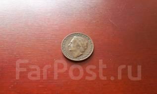 Нидерланды. 1 цент 1948 года в сохране. Королева Вильгельмина.