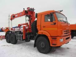 Kanglim KS1256G-II. Тягач КМУ Камаз 43118-46 + KS1256G-II + ССУ, 300 куб. см., 6 500 кг.