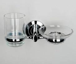 Держатель для стакана и мыльницы Rhein, WasserKRAFT (арт. К-6226)