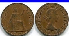 1 пенни 1966 Великобритания