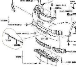 Накладка на бампер. Toyota Allion, NZT260, ZRT260, ZRT261, ZRT265 Двигатели: 1NZFE, 2ZRFAE, 3ZRFAE