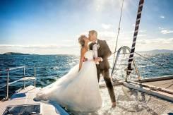Выездная регистрация брака, свадьба на парусном катамаране