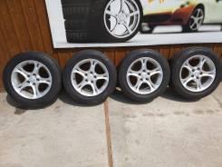 Комплект литых колес Mazda с летней резиной 225/55R-16. 7.5x16 5x114.30 ET50 ЦО 67,0мм.