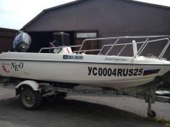 Продам шикарную пластиковую лодку NEO 374. Год: 2001 год, длина 4,00м., двигатель подвесной, 30,00л.с., бензин