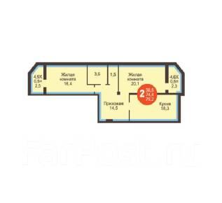 2-комнатная, улица Зиповская 17. ЗИП, агентство, 80 кв.м.