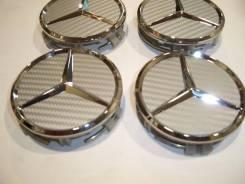 """Колпачки диска ЦО (заглушка диска)центрального отверстия Mercedes 75мм. Диаметр 18"""", 4 шт."""