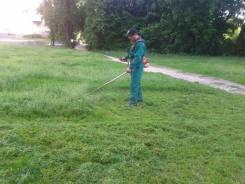Покос травы. уборка территории. Пригород. Надежд. район . Артем.