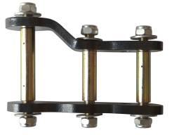 Серьга рессоры удлиненная двухпозиционная Nissan Navara D40 лифт 25 мм или 38 мм