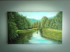 """Картина """"Тропинка вдоль реки"""". Нестеров (холст, масло)."""