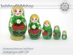 Матрешка Вятская 5пр/90мм/Авторская vs80-728