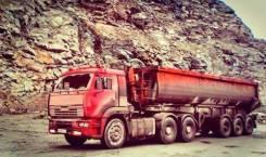 Камаз 6460. + полуприцеп СЗАП самосвальный (пневмоподвеска), 380 куб. см., 27 000 кг.