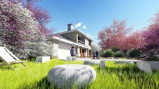 A 1200x AlexArchitekt Продуманный дом с гаражом. 200-300 кв. м., 2 этажа, 5 комнат, комбинированный