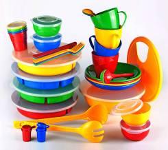 Набор посуды Приятног аппетита c менажницами 4 персоны сумка-футляр 1/2