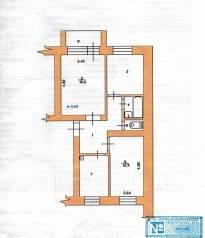 3-комнатная, улица Григоренко 22. Центр, агентство, 57 кв.м. План квартиры