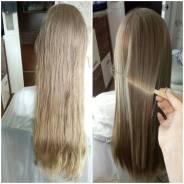 Кератиновое выпрямление и восстановление волос супер результат!