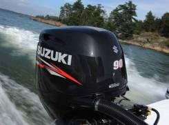 Suzuki. 90,00л.с., 4х тактный, бензин, нога L (508 мм), Год: 2014 год
