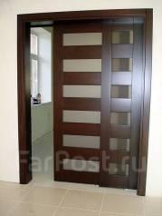 Раздвижные двери из массива сосны, ясеня, дуба