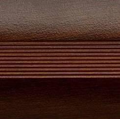 Кант алюминиевый полукруглый, венге, 1,8 м*40 мм