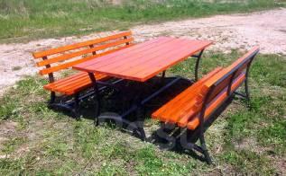 Продается садовая мебель: садовый столик + 2 скамейки, 25 т. р.