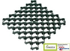 Газонная решетка усиленная с высоким профилем (0,5 х 0,5 х 0,035 м) зеленая