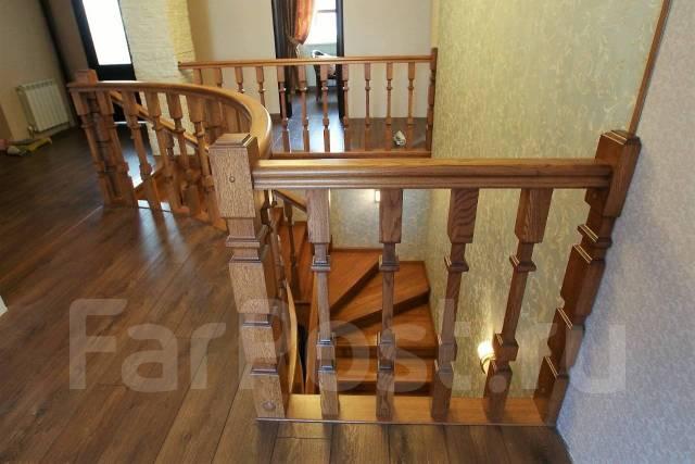 Лестницы из твердых пород древесины