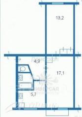 2-комнатная, улица Краснодарская 23а. Железнодорожный, агентство, 47 кв.м.