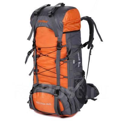 Туристический рюкзак Aeroline на 85+5 л + чехол, цвет оранжевый