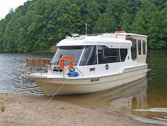 Моторная лодка Suncamper-30. Год: 2016 год, длина 10,00м., двигатель подвесной, 60,00л.с., бензин. Под заказ