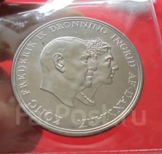 Дания 5 Крон 1960 (UNC) - Серебряная Свадьба (Серебро)