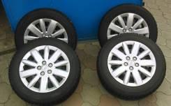 Зимние шины на стальных дисках с колпаками. 6.5x16 5x105.00 ET-40 ЦО 56,6мм.