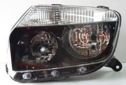 Фара Duster 4х4 правая черная с корректором