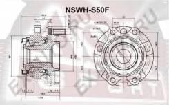 Подшипник передний (ступичный узел) Asva NSWH-S50F (40202-CG110, 40202-EJ70B) для INFINITI FX45/FX35 куз.S50
