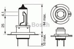 Лампа (H7) 55W 12V PX26D галогенная +50% мощности света Bosch 1 987 302 079