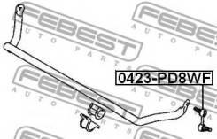 Тяга стабилизатора 0423-PD8WF Febest