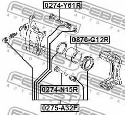 Втулка направляющая тормозного суппорта 0274-Y61R Febest