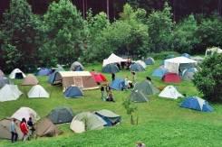 Отдых со своими палатками в бухте Лазурная(Шамора).
