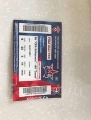 Продам 1 билет на футбол СКА-Хабаровск-Зенит. Цена 900